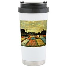 Van Gogh - Flower Beds in Holla Travel Mug
