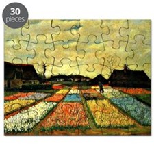 Van Gogh - Flower Beds in Holland Puzzle