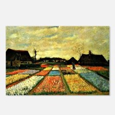 Van Gogh - Flower Beds in Postcards (Package of 8)