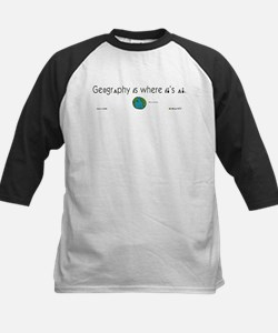 Geography Is Where It's At Kids Baseball Jersey