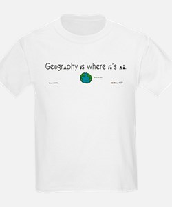 Geography Is Where It's At Kids T-Shirt