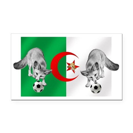 Algeria Football Flag Rectangle Car Magnet