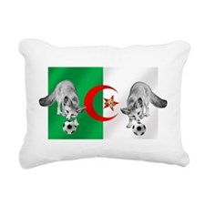 Algeria Football Flag Rectangular Canvas Pillow