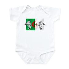 Algeria Football Flag Infant Bodysuit
