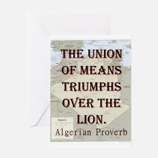 The Union Of Means - Algerian Greeting Card