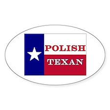 Polish Texan Texas Flag Oval Decal