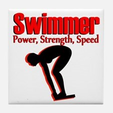 BORN TO SWIM Tile Coaster