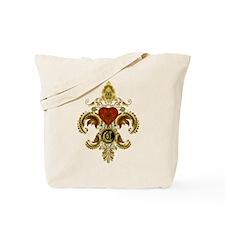 Monogram C Fleur de lis Tote Bag