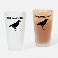 Custom Black Raven Drinking Glass