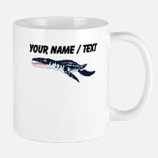 Custom Blue Plesiosaur Mugs