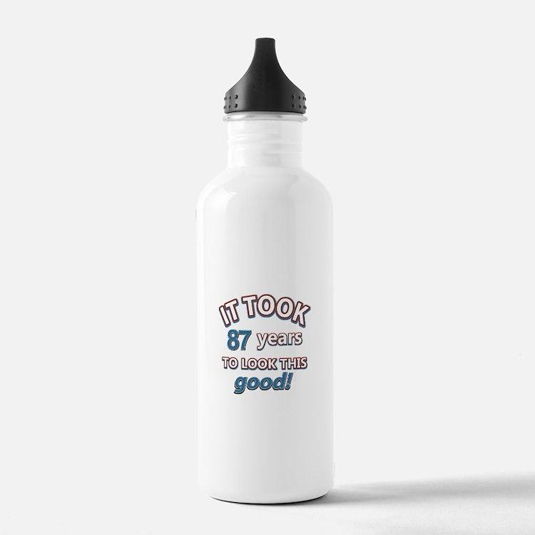 88 year old birthday designs Water Bottle