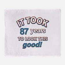88 year old birthday designs Throw Blanket