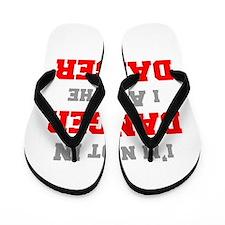 Im-not-in-dager-fresh-gray-red Flip Flops