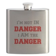 Im-not-in-dager-fresh-gray-red Flask