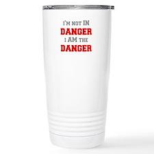 Im-not-in-dager-fresh-gray-red Travel Mug