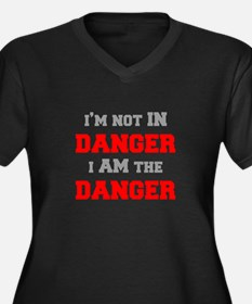 Im-not-in-dager-fresh-gray-red Plus Size T-Shirt