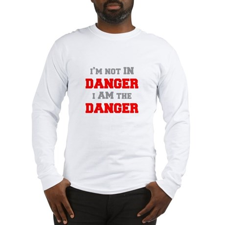 Im-not-in-dager-fresh-gray-red Long Sleeve T-Shirt