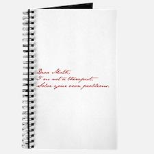 dear-math-jan-dark-red Journal