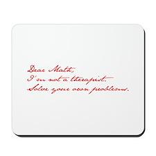 dear-math-jan-dark-red Mousepad