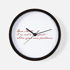 dear-math-jan-dark-red Wall Clock