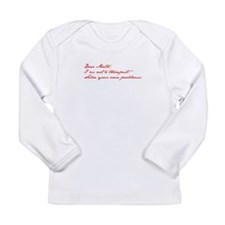 dear-math-jan-dark-red Long Sleeve T-Shirt