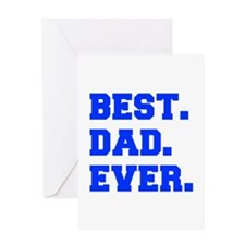 best-dad-ever-fresh-blue Greeting Cards