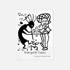 Taino Kokoppelli 5'x7'Area Rug