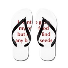 bacon-seeds-opt-dark-red Flip Flops