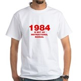 1984 is not an instruction manual Mens White T-shirts