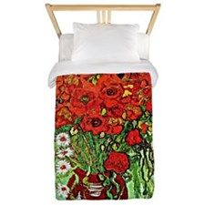 Van Gogh - Red Poppies and Daisies Twin Duvet