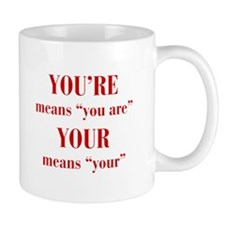 youre-your-bod-dark-red Mugs