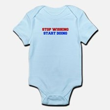 stop-wishing-FRESH-RED-BLUE Body Suit