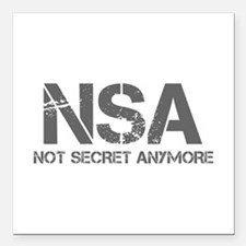 nsa-not-secret-anymore-cap-gray Square Car Magnet