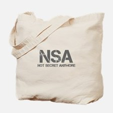 nsa-not-secret-anymore-cap-gray Tote Bag