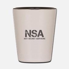 nsa-not-secret-anymore-cap-gray Shot Glass