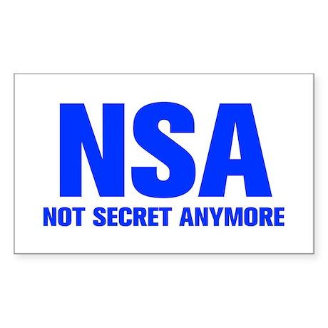 nsa-not-secret-anymore-AKZ-BLUE Sticker