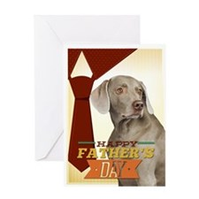 Weimaraner Father's Day Card