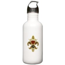 Monogram H Fleur de lis 2 Water Bottle