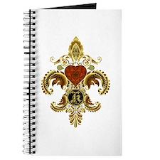 Monogram K Fleur de lis 2 Journal