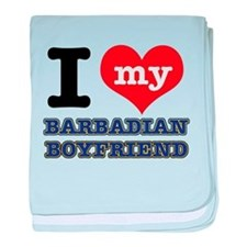 I love my Barbadian Boyfriend baby blanket