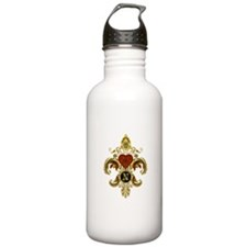 Monogram N Fleur de lis 2 Water Bottle