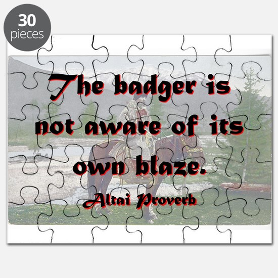 The Badger Is Not Aware - Altai Puzzle