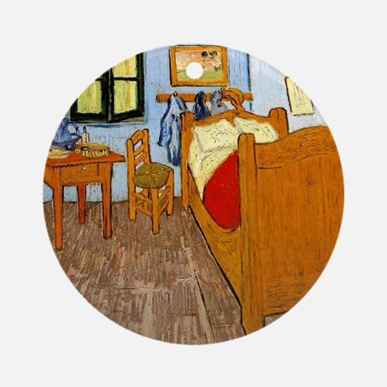 Van Gogh - Vincent's Bed in Arles Round Ornament