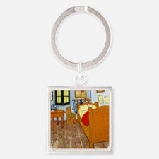 Van Gogh - Vincent's Bed in Arles Square Keychain