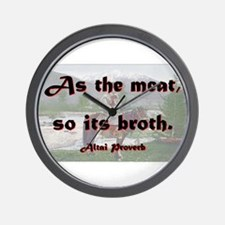 As The Meat So Its Broth - Altai Wall Clock