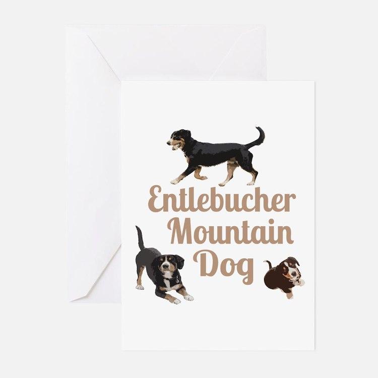 Entlebucher Mountain Dog Greeting Cards