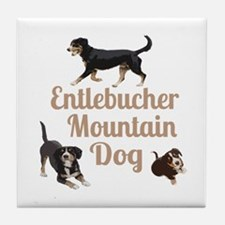 Entlebucher Mountain Dog Tile Coaster