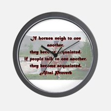 If Horses Neigh To One Another - Altai Wall Clock