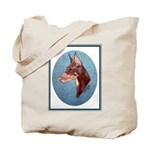 Red Doberman Pinscher Tote Bag