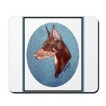 Red Doberman Pinscher Mousepad